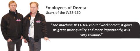 JV33-160 testemonial