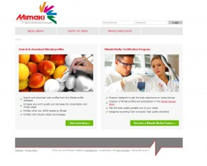 Mimaki Media certification website