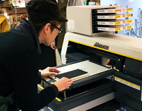 Moleskine-workshop with Mimaki