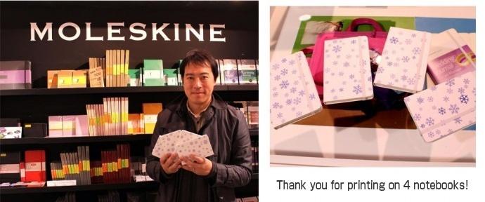 Moleskine-workshop with Mimaki
