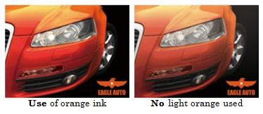 orange ink use