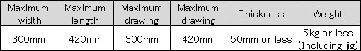 ujf-3042 media size