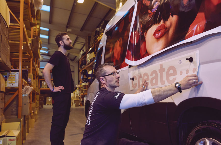 Mimaki vehicle wrap