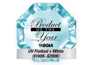 Product of the Year for JFX200-2531 UV-LED flatbed printer