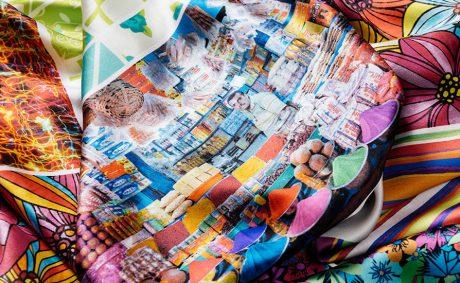 A range of textile fabrics