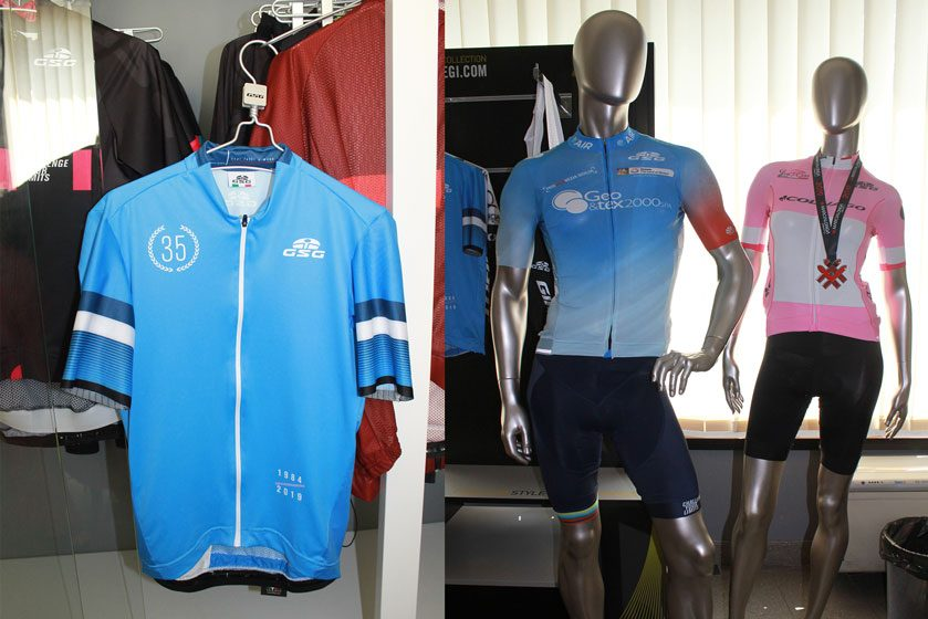 Textile application cycling jersey - GSG