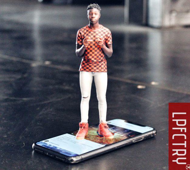 man standing on phone